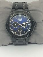 Relic ZR15533 Men's Stainless Steel Analog Blue dial Quartz Wrist Watch LB203