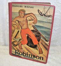Hardcover German Book Robinson Crusoe by Daniel Defoe