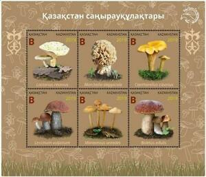 Kazakhstan 2019. Souvenir sheet. Mushrooms of Kazakhstan. NEW!!!