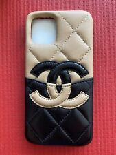 100% Authentic Chanel Black/Beige Lambskin Iphone 11 Pro Case (Rare)