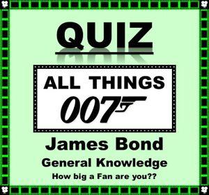 007 'JAMES BOND' Pub Quiz Trivia Game Fun for Families/Friends/Zoom/Fans