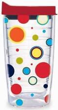 TERVIS Tumbler FIESTA Colorful Polka Dots Dancing Lady 16 oz NEW Red Travel Lid