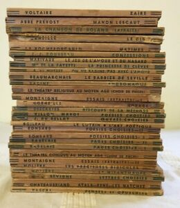 Bundle of 29 Classiques Larousse books in uniform editions from 1941