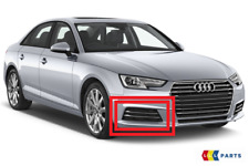 NEW GENUINE AUDI B9 A4 16-18 FRONT BUMPER LOWER RIGHT O/S AIR GUIDE GRILL CHROME