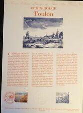 FRANCE MUSEE POSTAL FDC 42-91  LA CROIX ROUGE  TOULON   2,50+0,60F  TOULON  1991