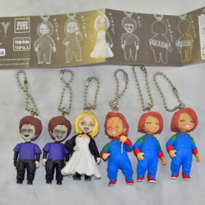 Child's Play Chucky 6 PCS Figures Keyring Movie Doll Keychain Gift Kids Toy