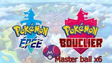Pokémon - Master Ball x6 [Switch][épée/Bouclier]