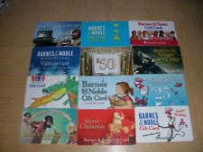 Barnes & Noble   12 different new and used collectible gift cards