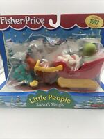 FISHER PRICE LITTLE PEOPLE SANTA'S SLEIGH 1997 NEW IN PACKAGE Plastic Damaged