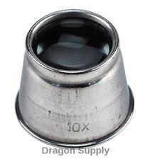 "New 10x1"" Eye Loupe Magnifying Glass Lens Aluminum Body MI120  US FREE SHIPPING"