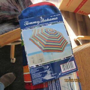 Tommy Bahama 8' Beach Umbrella with Tilt - Multi Color Stripe - Brand New 2020!