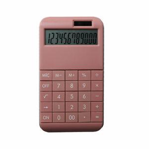 Taschenrechner mit Standardfunktionen - 19 x 10 x 1,2 cm - pink -