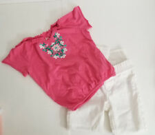 Girls Pink/White Top & Jeans Set by Mudd and Jordache Sz 5 EUC
