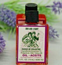 Do As I Say  Magickal Oil (1) 4DRMs,  Reversing,Curses Santeria, Hoodoo, Wicca