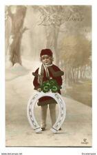 CPA-Belgique - Fantaisie - Enfant - Fille - Fer à cheval - Bonne Année - 1922