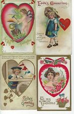 """Valentines Day - Lot of 12 postcards from the early 1900""""s"""