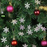 200 Stück 3cm Schneeflocken Weihnachtsbaum Schmuck Fenster Glas Party Deko