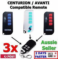 3 x Avanti/Centurion Garage Door Compatible TX4/MPS/DPS/SDO21/12 Remote T Series