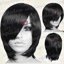 16 inch Hi_Temp Milkshake Pink Long Layer Bob Cut Short Cosplay DNA Wigs 65KPN