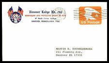 BPOE HANOVER PA LODGE NO 763 APR 3 1980 US POSTAGE A EMBOSSED ISSUE AD COVER