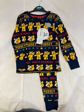 Children In Need Pudsey Pyjamas Navy 3-4 Years New Charity Donation