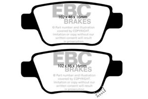 EBC Ultimax Rear Brake Pads for Toyota Estima 2.4 (2006 on)