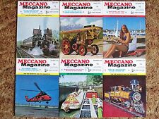 SIX VINTAGE MECCANO MAGAZINES from 1972 -ALL 6 ISSUES FROM JULY TO DECEMBER 1972