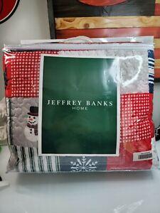 NIP Jeffery Banks Home Christmas Themed Soft King/Cal King Quilt & Shams Set