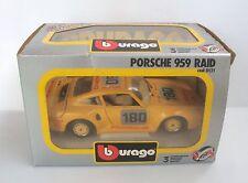 Véhicule miniature Porsche 959 Raid 1/24 - Burago TBE en boite ref 0121