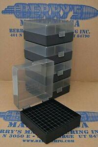 .223 / 556  ammo case / box 100 round (5) X (SMOKE / BLACK) 223 556 Berry's mfg
