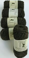5 Elsebeth Lavold Twice Tweed #9 Black Pepper 50g Yarn Skeins 100% Recycled Lot