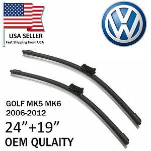 """Premium OEM Quality 24""""&19"""" Wiper Blades For Volkswagen GOLF/GTI/JETTA/PASSAT"""