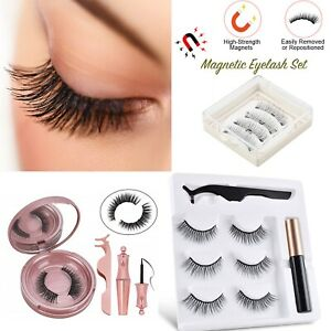 Magnetic Liquid Eyeliner False Eyelashes Tweezer Eyebrow Soap Eye Makeup Tool UK