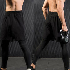 Sport Mens Running Fitness Gym Pant Elastic Long  Two Training Exercise Pant 01