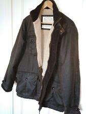 White Stuff Mans Coat Jacket Brown Fleece Lined Sz M