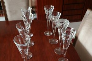 8 Waterford Crystal Tall Flutes by John Rocha Limited Edition Perfect Condition