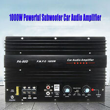 12V 1000W Mono Car Audio Power Amplifier Powerful Bass Subwoofers Black PA-80D