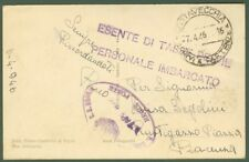 Cartolina in franchigia del 1946. Bollo ovale violetto