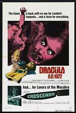 DRACULA A.D. 1972 poster CHRISTOPHER LEE/CAROLINE MUNRO original one sheet 27x41