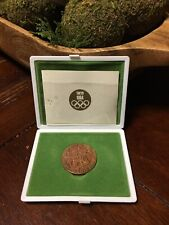 1964 Japanese Tokyo Olympics Commemorative Copper Medal Coin & Case