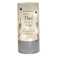 in Loving Memory Remembrance Dad Tube Light Candle Tribute Memorial Gift Plaque