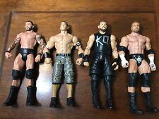 WWE Mattel Basic Figure Lot of 4 John Cena Randy Orton Triple H Kevin Owens GUC