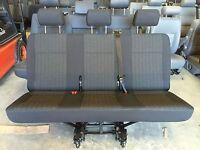 Genuine VW T6 Transporter rear triple combi seat in Pandu trim for quick release