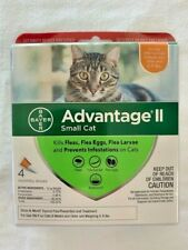 Bayer Advantage II Flea Prevention for Small Cats, 5-9 lbs 4 MONTHLY DOSES NEW