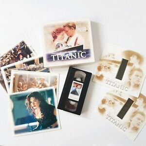 Titanic VHS Collectors Edition Box Set With Collector Cards & 2 x 35mm Film Cell