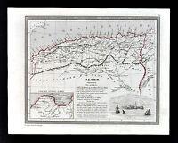 1835 Monin Fremin Map Alger Algeria Constantine Oran Bone Tlemcen - North Africa