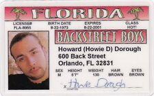 Howard Howie Dorough of the Backstreet Boys . Drivers License - Back Street Boys