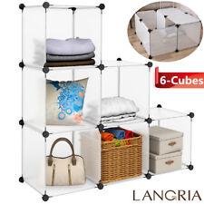 6-Cube DIY Storage Wardrobe Closet Cabinet Shelving Clothes Organizer Shoe Rack