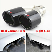 Universal Carbon Fiber Car SUV Dual Pipe Right Exhaust Pipe Tail Muffler End Tip