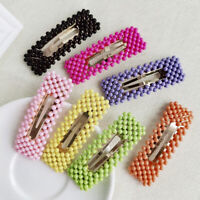 Women's Candy Hairpin Snap Hair Clip Pin Slide Crystal Barrette Hair Accessories